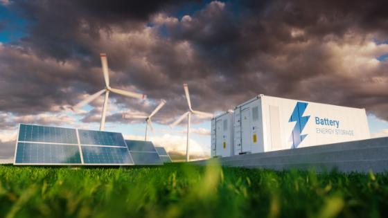 Renewable energy generation with storage onsite